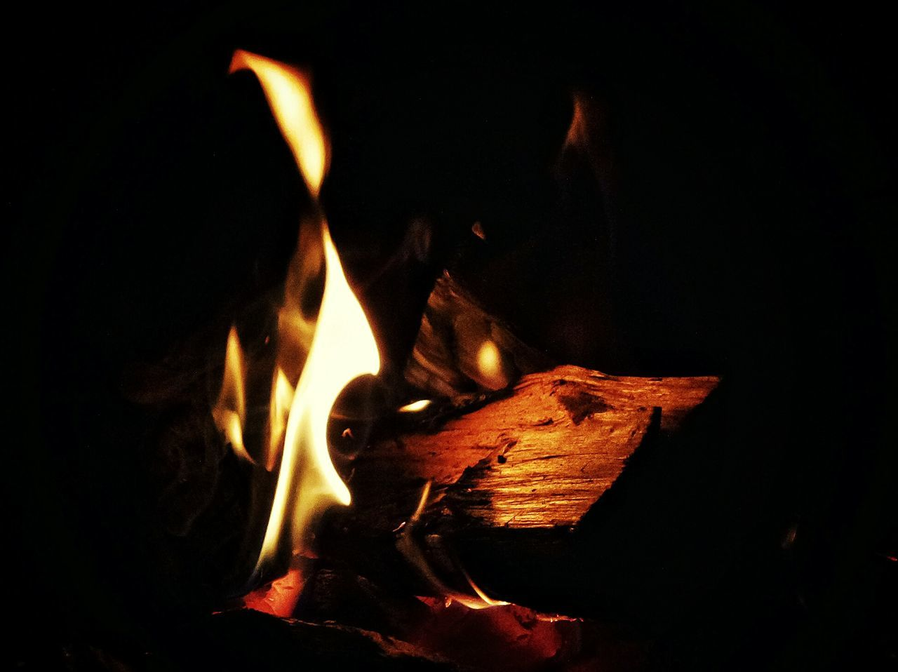 flame, burning, heat - temperature, night, glowing, bonfire, campfire, no people, fire pit, close-up, outdoors, nature