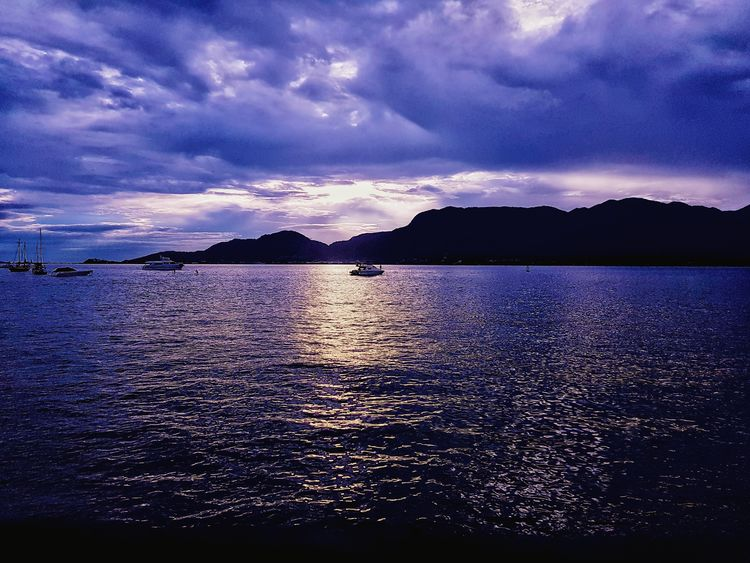 Water Sea Sunset Mountain Galaxy Reflection Star - Space Astrology Sign Sky Cloud - Sky