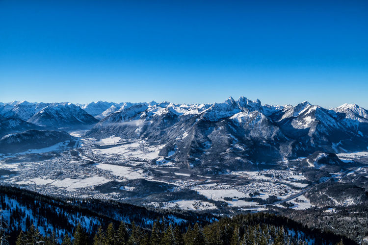 Mountain Snow Cold Temperature Scenics - Nature Winter Sky Mountain Range Beauty In Nature Environment Clear Sky Landscape Snowcapped Mountain Tranquil Scene Blue Tranquility Nature No People Copy Space Day Outdoors Mountain Peak Mountain Ridge Autumn Winter Alps Austria Tyrol