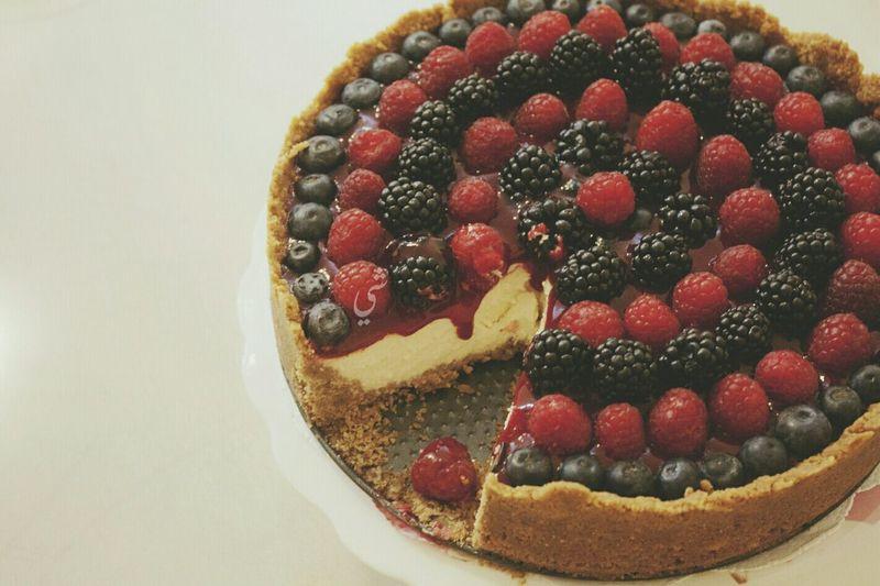 Happeniess is .. Eating cake ❤ Cheese Cake Baking Dessert Yummy Takenbyme Ta9weeri Abudhabi
