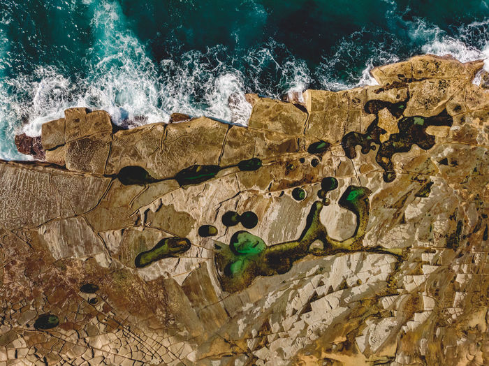 Figure 8 Pool on the Royal National Park coast. Seeing it from above gives a sense of the whole formation and what a surreal place it is. Water Sea Rock Rock - Object Nature Motion No People Power In Nature Rock Formation Wave Outdoors Figure 8 Figure Eight Figure 8 Pool Figure Eight Pool Drone  Drone Photography DJI X Eyeem DJI Mavic Air My Best Photo Rock Pool Coast Coastal Feature Pool Landscape