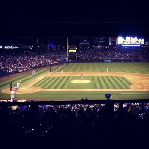 The calm before the storm. Coloradorockies Texasrangers Coorsfield Baseball