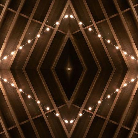 Beams & Lights above, beer & coffee below Pattern Lights Woodbeam Geometric Shape First Eyeem Photo