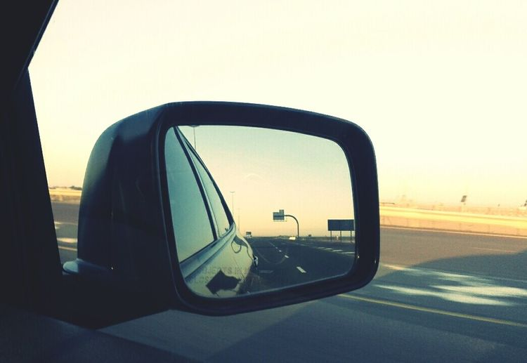 Dubai outskirts Hanging Out Check This Out Taking Photos Dubai First Eyeem Photo Mirror Car Vehicles On The Road Mobile Photography FirstEyeEmPic