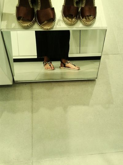 Hello World Check This Out Sandals Mirror Shot