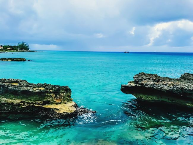 Tranquility Beauty In Nature Breathtaking Blue Sea Soul Cleansing Pure Bliss Ocean Air Grand Cayman Island