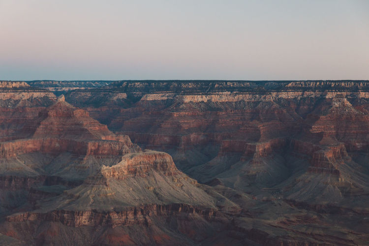 Idyllic View Of Grand Canyon National Park Against Sky