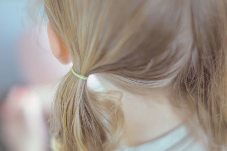 Close-up of ponytail
