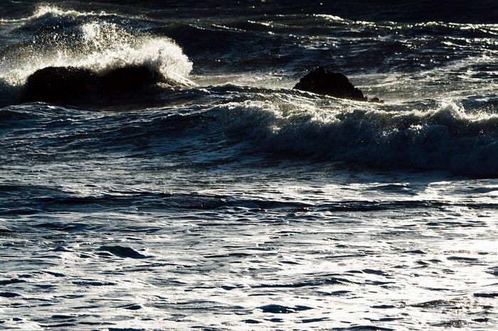 Wave Waves Waves, Ocean, Nature 🌊 Sunlight ☀ Sunlight And Shadow Reflections Sea Water Beauty In Nature Wave Backgrounds Rock - Object After The Storm Beach Hayama Kanagawa Kanagawa,japan December December 2016 Splashing Power In Nature Seaside