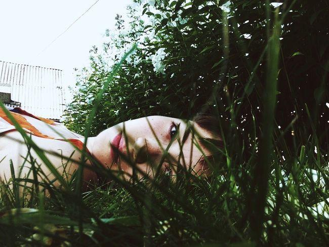 Grass Summer Portrait Girl