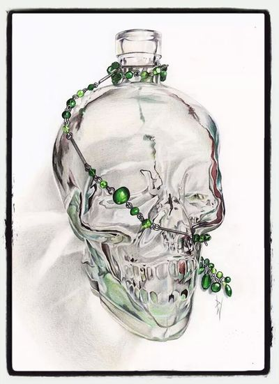 Check This Out Awesome Enjoying Life Art skull sketch I just finished