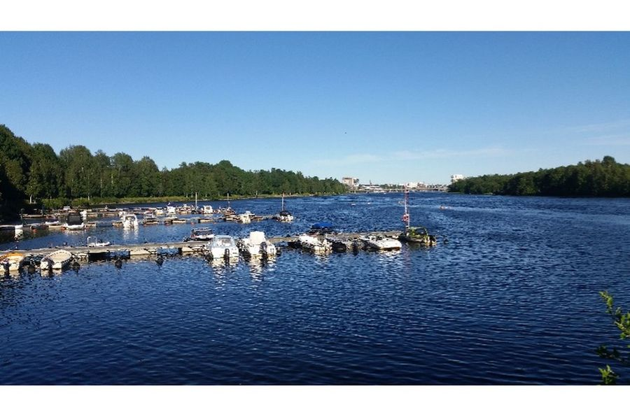 Umeå Water Day Blue Clear Sky Nautical Vessel Outdoors Lake Nature No People