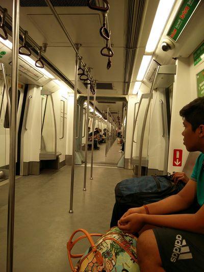 Metro Empty Train Train Public Transportation Transport Mobility In Mega Cities