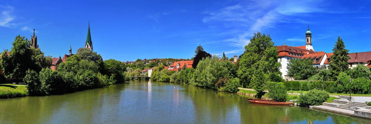 Panorama of rottenburg am neckar at blue sky