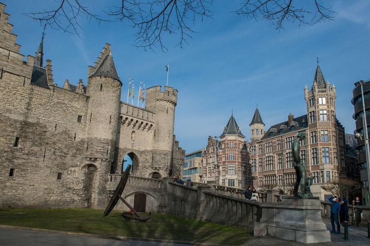 Antwerpen, Belgium Antwerpen Belgium Castle City Het Steen Schelde Building Exterior History