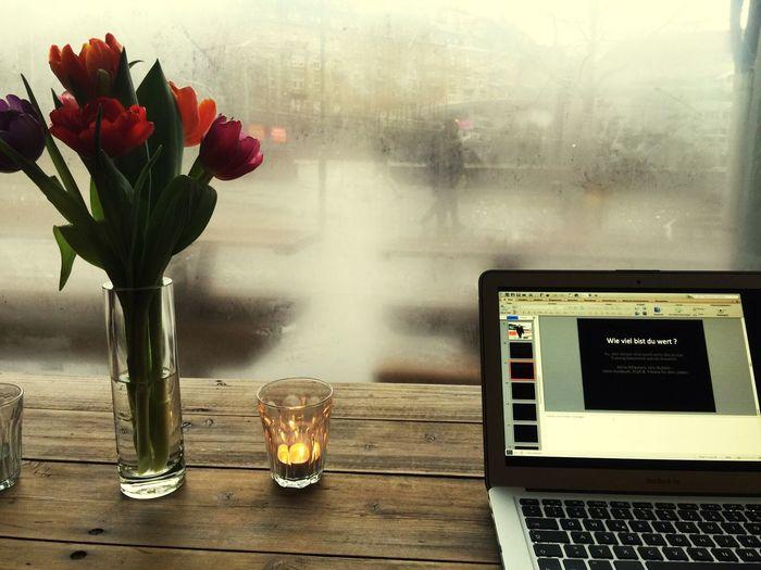 Working sometimes is wounderful ? Tea Is Healthy Cappucino Coffee Enjoying Life