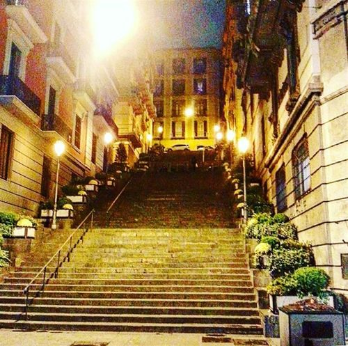 rampe d'andrea Napoli Naples Essere Napoletano è Meraviglioso Notte Night Night Lights Building Exterior Architecture Built Structure Illuminated No People Steps Outdoors Night Residential Building City