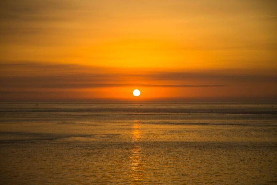 Sky Sunset Scenics - Nature Beauty In Nature Water Sea Orange Color Sun Nature