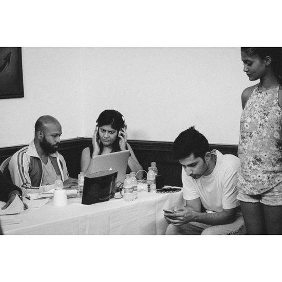 Eyes on the screen Fittings of Designer  @Diksha.Khanna at the Indiabeachfashionweek Ibfw at TheLalit Goa Behindthescenes Fashionweek Fashion Fujifilm Fuji Xe1