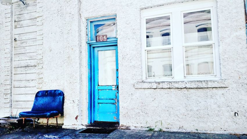 Architecture Building Exterior Outdoors Door Built Structure The Week Of Eyeem Blue Chair Blue Door Eye Em Selects