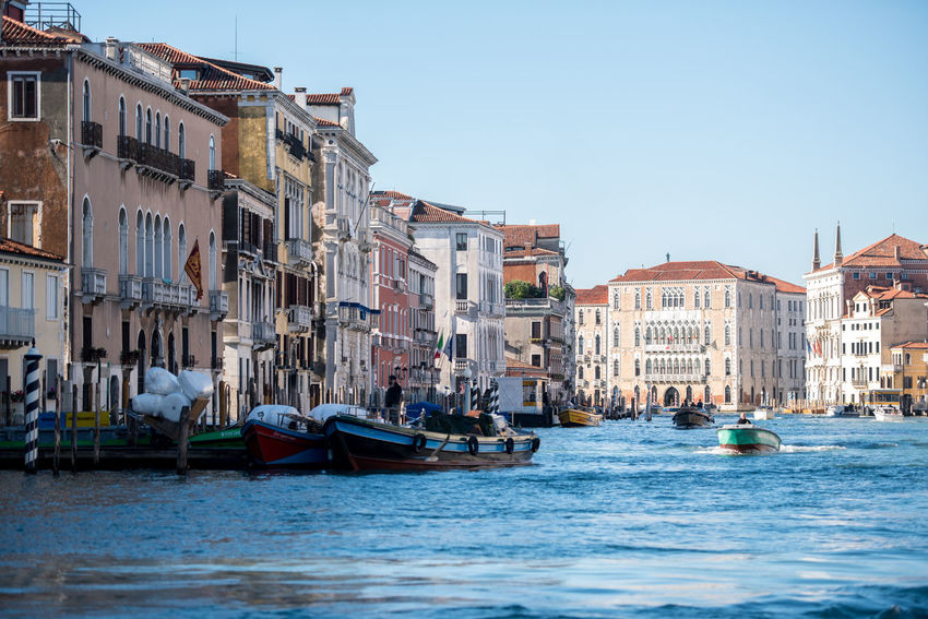 Venice, Italy Architecture Building Exterior Built Structure Clear Sky Day Large Group Of People Nautical Vessel Outdoors People Real People Sky Transportation Venice Water Waterfront