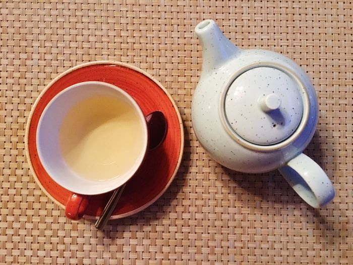 Green Tea Drink Food And Drink Refreshment Table Still Life Cup No People Tea - Hot Drink Coffee Cup High Angle View Indoors  Freshness Healthy Eating Saucer Serving Size Food Close-up Herbal Tea Day
