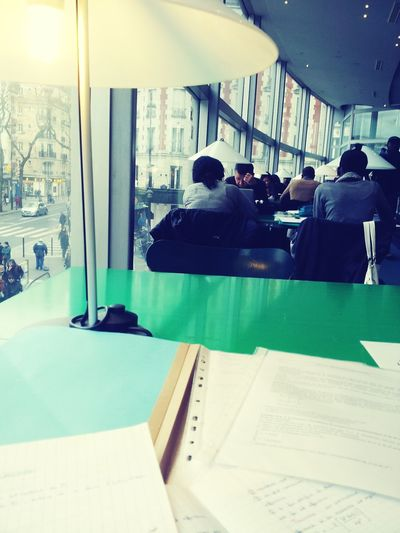 Bibliotheque Revision Statistics  Green Table Streetphotography Street Photography Metro Subway Olympiade First Eyeem Photo