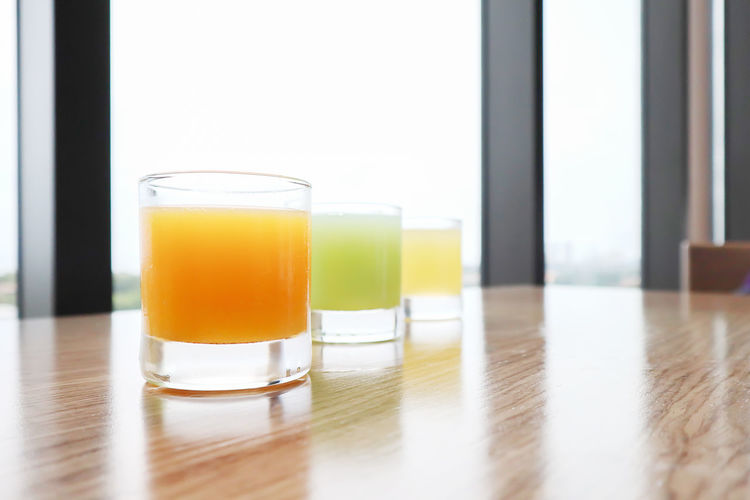 Breakfast Business Hotel Holiday Resort Hotel Tourist Travel Carrot Juice In Glass Fruit Juice Guava Juice In Glass Healthy Eating Healthy Food Healthy Lifestyle Orange Juice In Glas Organic Summer Tropical Climate White Plate