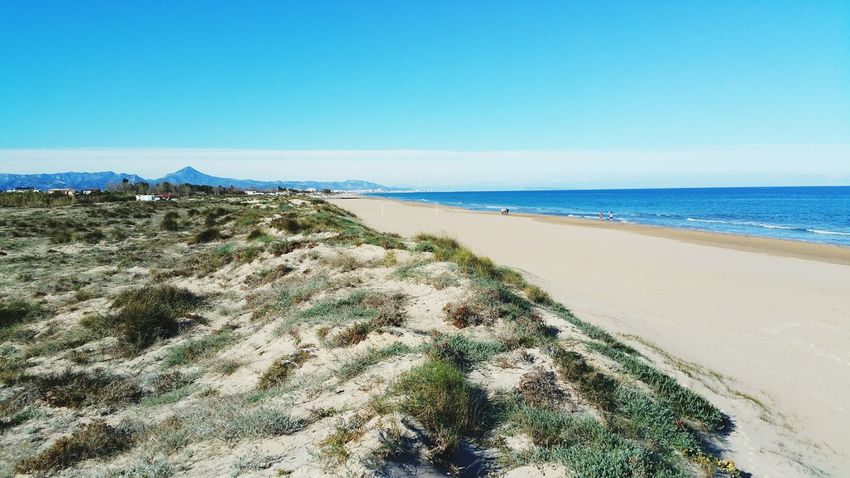 Beachphotography Sunny Day Perfect Day Day Horizon Over Water Resist Sand Valencia, Spain Tranquility Nature Beauty In Nature Beach The Secret Spaces Reflection Water Cloud - Sky Sea Sky València No People Outdoors