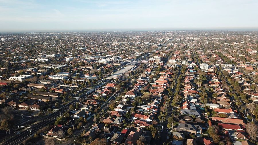 Aerial Shot Aerial View Drone  Australia Road Home House Street Residential Building Suburbia Neighborhood Sky Sea Water Horizon Over Water Nature Scenics - Nature Beauty In Nature Architecture Building Exterior Outdoors Land Cityscape High Angle View City Tranquil Scene Tranquility Horizon Day
