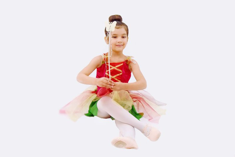 Déguisement Colorés Dance Costume Chignon  EyeEm Selects Studio Shot One Person White Background Full Length Portrait Smiling Indoors  Happiness Hair Childhood Emotion