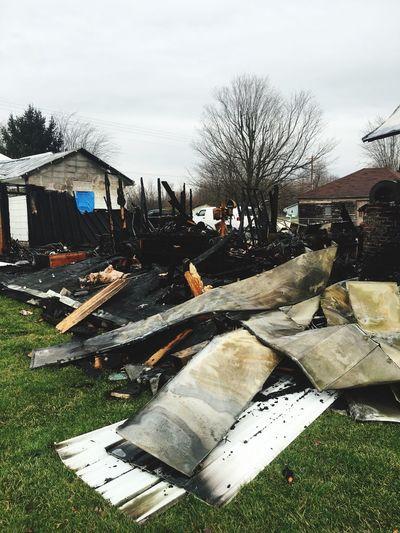 Destruction Fire Burned Burned Garage Burned Down Burned Building