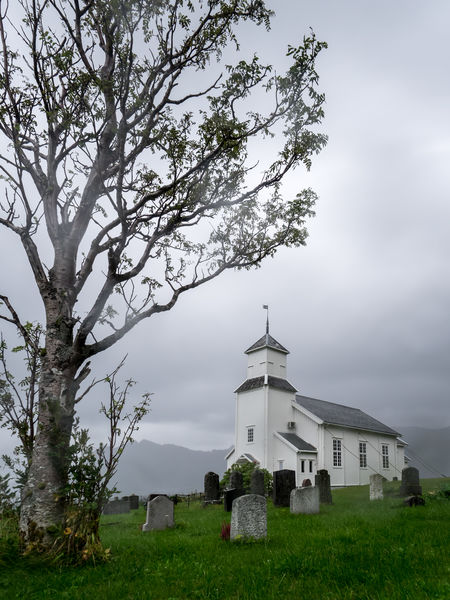 Architecture Building Exterior Built Structure Church Cloud - Sky Cross Day Field Gimsoy Gimsøy Grass Green Color Kirke Landscape Landscape_Collection Lofoten Lofoten Islands No People Norway Outdoors Place Of Worship Religion Sky Spirituality Tree
