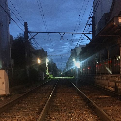 夜が明けるところ Streetphotography Daybreak Running Depth Minimalism Railroadline Good Morning