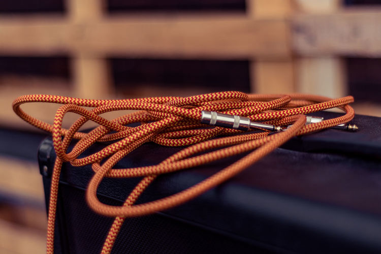 Close up of cable
