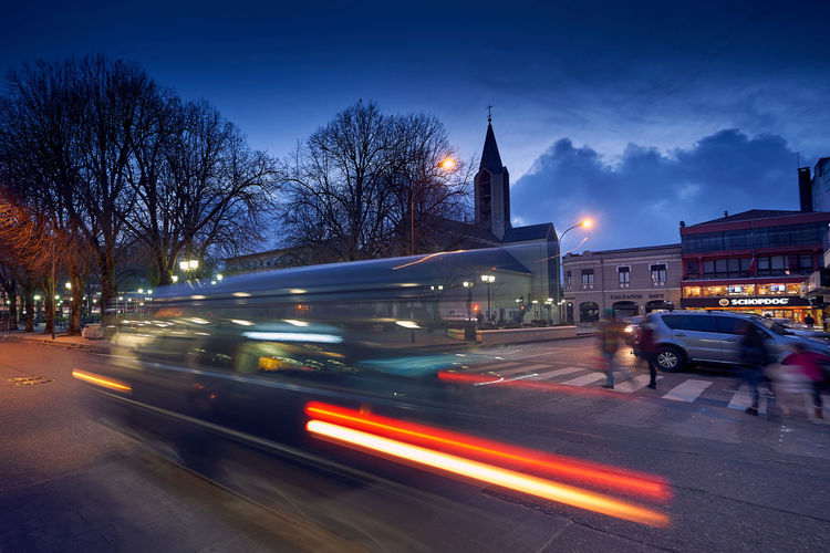 Main Square... Architecture Aroundtheworld Blurred Motion Building Exterior Built Structure City Dusk Illuminated Land Vehicle Light Trail Long Exposure Mode Of Transportation Motion Nature Night No People Outdoors Road Scenics Sky Speed Street Transportation Travel Destinations Tree