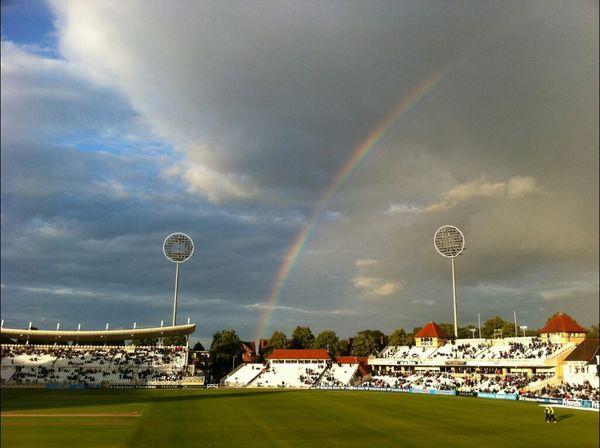 Rainbow Cricket! Cricket Field Cricket Match Cricket Pitch Cricket Ground Trent Bridge Trent Bridge Cricket Nottingham