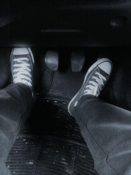Driving Car Feet