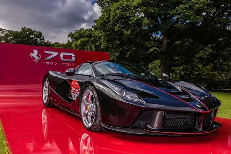 70th Ferrari Ferrari70 Leeds Black Car Expensive Park Roundhay Park Supercar