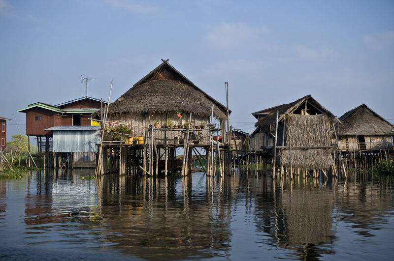 Architecture Building Exterior Built Structure Burma Check This Out Day Inle Inle Lake Myanmar Nature No People Outdoors Sea Sky Stilt Stilt House Tranquility Travel Water Waterfront