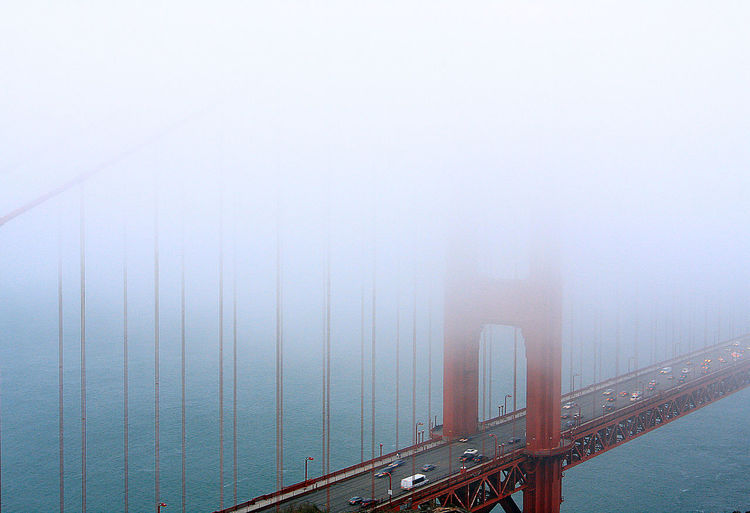 Through the fog Shapes And Forms Minimalism Structure California California Coast California Dreamin Pacific Coast Foggy Morning The Calmness Within EyeEm Best Shots Melancholic Landscapes Seeing The Sights San Francisco Golden Gate Bridge Foggy Foggy Day Iconic Buildings Traffic Landscape Quintessential Queen Of Beauty Quality Photography In Motion Pastel Power Pastel Colors The Great Outdoors With Adobe Been There. Lost In The Landscape California Dreamin
