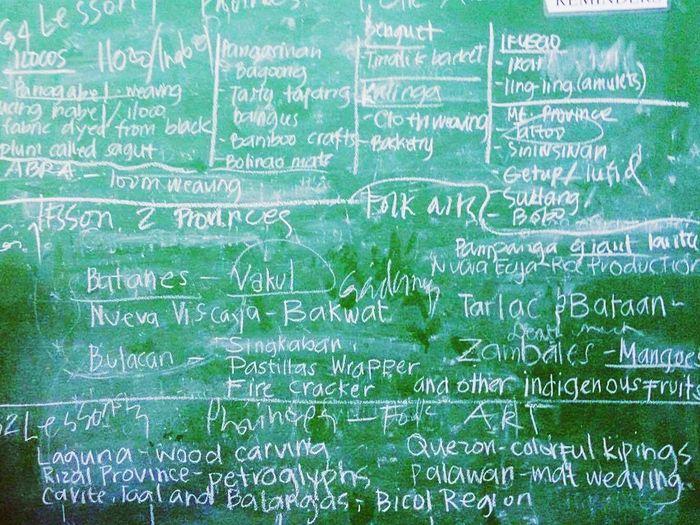 The Color Of School Mapeh Art Class. Messy Board Western Script Green Color Ideas Blackboard School School