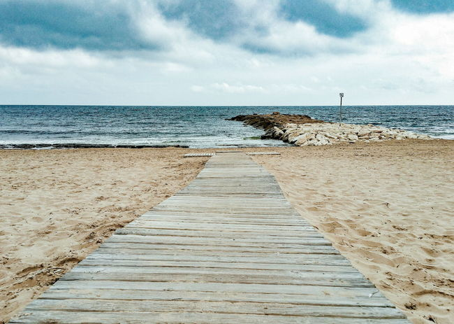 winter beach Wood Winter Mediterranean  SPAIN España Playa Clouds Darkcloud пляж зима Море Beach Sea Sand Horizon Over Water Water Sky Outdoors Day Cloud - Sky Nature Vacations Groyne No People Scenics Tranquility Beauty In Nature
