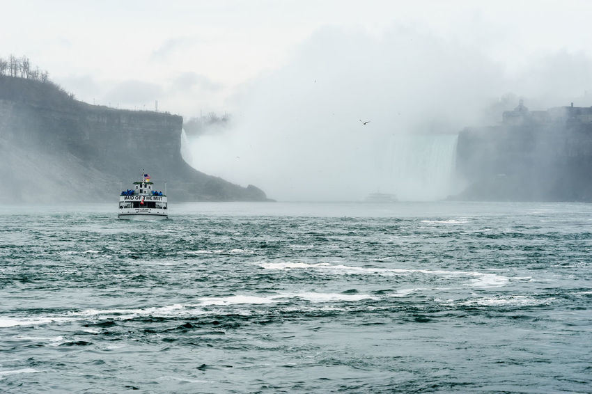 America Beauty In Nature Break The Mold Cold Temperature Day Falls Fog Landmark Nature Nautical Vessel New York Niagara Niagara Falls Outdoors Scenics Sea Sightseeing Sky Tourist Transportation Travel Water Waterfront Weather Winter