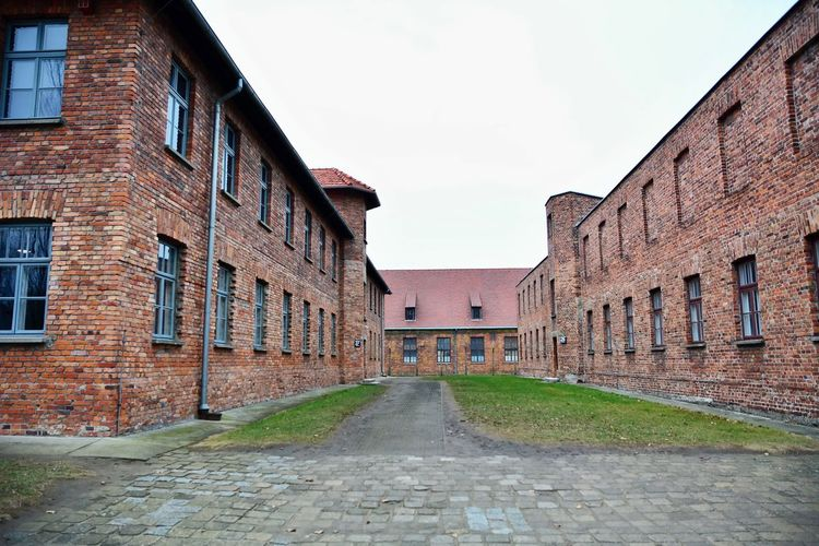OSWIECIM, POLAND - DECEMBER 07, 2018: Auschwitz I holocaust memorial museum. Auschwitz I is the main camp of nazi concentration and extermination camp in Oswiecim. No People Day Architecture Building Exterior Built Structure Building Outdoors Brick Auschwitz  Auschwitz Birkenau Auschwitz Memorial Auschwitz I Oswiecim Oświęcim, Concentration Camp Poland Jewish Holocaust Holocaust Memorial War Death Extermination Prison Museum Genocide