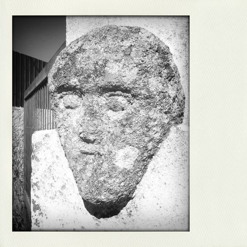 A Stone Face :-) My Monochrome World Monochrome _ Collection Eyeem Monochrome Black And Light