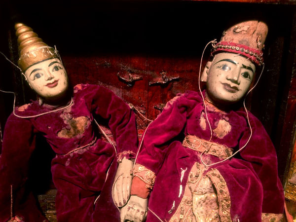 Chinese Collection Craft Leisure Activity Marionette, Puppet Puppets Red Waist Up