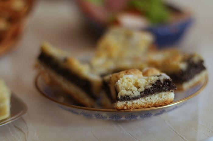 Poppy Seed Cake Cake Defocused Close-up Food And Drink Slice Of Cake Dessert