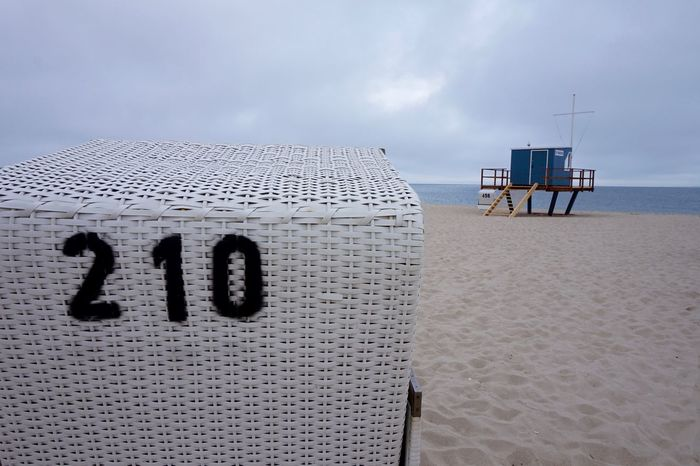 Beach Beach Chair Day Horizon Over Water Lifeguard Hut Nature No People Sand Sea Sylt Sylt Strand Sylt, Germany