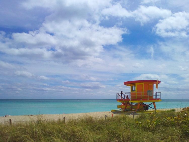 Architecture Beach Beauty In Nature Building Exterior Built Structure Cloud - Sky Day Grass Horizon Over Water Lifeguard Hut Nature No People Outdoors Sand Scenics Sea Sky Tranquil Scene Tranquility Water Neighborhood Map at Surfside Beach